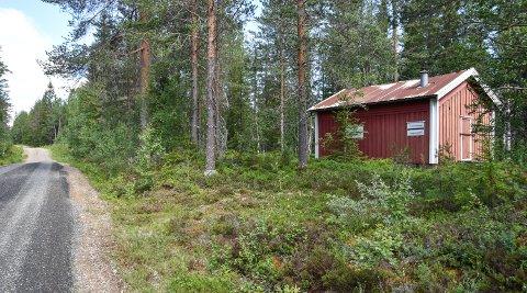 TIL SALGS: Legatkoia, tett ved Agnåsvegen, følger med på kjøpet.