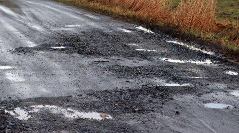 HULL: Været de siste ukene har tæret spesielt på grusveiene. Dem er det mange av i Rakkestad.