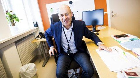 OPPMUNTRENDE: Administrerende direktør Øystein Mæland ved Akershus universitetssykehus gleder seg over den økonomiske utviklingen. Foto: Lisbeth Lund Andresen