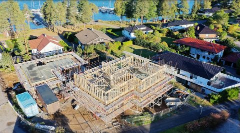 ASNESÅSEN 9: Slik ser det ut på byggeplassen. Naboer og gjenboere som har klaget, setter nå sin lit til statsforvalteren.