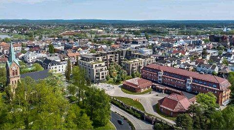 GODKJENT: Planene for kvartal 201 i Sarpsborg sentrum er godkjent av politikerne. «Trenger vi leiligheter her», undrer leserbrevskribenten.