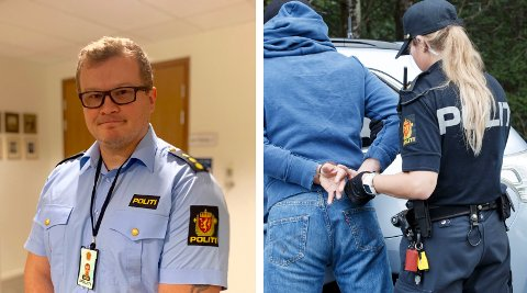 UTSETT FOR VALD PÅ JOBB: Politibetjent Jon Viste (36) vart slått og sparka medan han gjorde jobben sin. Han er ein av stadig fleire offentlege tenestemenn som blir utsett for vald i arbeidssituasjon.