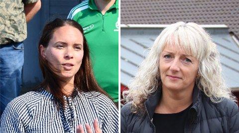 ÅTVARER: Randi Karlsen (til venstre) Gerd Næss Barka gjer foreldre merksame på aldersgrensa på den populære Netflix-serien.