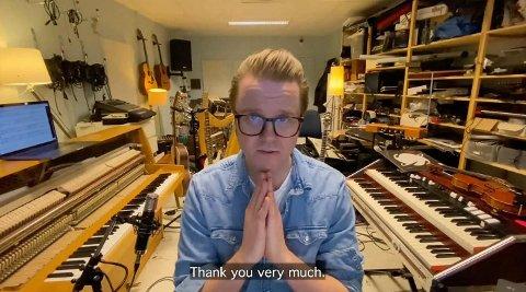 Ola Kvernberg vant svensk Guldbagge-pris for filmmusikken sin og takket fra sitt eget studio.