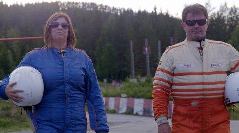 """Bilcross: I mandagens """"Jakten på kjærligheten"""" på TV2 tar frier Mariann Øen med seg Ola Einar Hovrud på bilcrossbanen i Aurdal."""