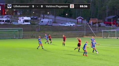 Stampesletta: Det ble til slutt 5–0 til Lillehammer onsdag kveld i den første seriekampen for Valdres/Fagernes i 3. divisjon damer.