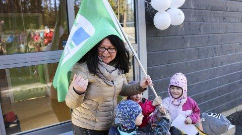 STØRRE PLASS: Da skoler og barnehager i Vestby gikk i rødt nivå, måtte deler av barnehagevirksomheten i Grevlingen barnehage legges til idrettshallen i Sonsveien.
