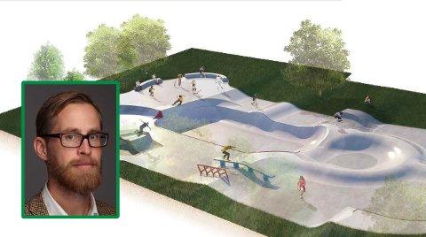 SUPERPARK: Slik er planene for skateparken på Manglerud.