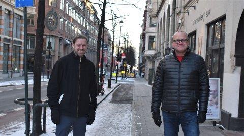 AP-POLITIKERE: Andreas Halse (t.v.) sitter i bystyret og er miljøpolitisk talsperson for Oslo Ap, mens Frode Jacobsen leder bystyregruppa.