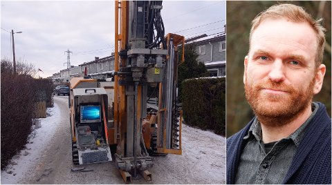 MÅ VENTE: Erik Martiniussen synes det er underlig at deres gravesøknad får avslag, mens kommunale etater selv ikke har koordinert gravearbeidene seg imellom.