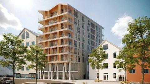 Til sommeren starter arbeidet med å lage leiligheter i Løvoldgården.