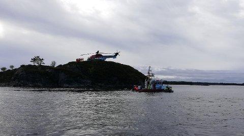 Det var en omfattende redningsaksjon etter den savnede dykkeren.