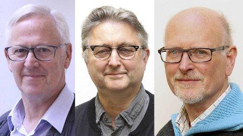 Listetopper ved årets kirkevalg er Karl Johan Kirkebø (f.v.), Vemund Atle Øiestad og Stein Oltedal.