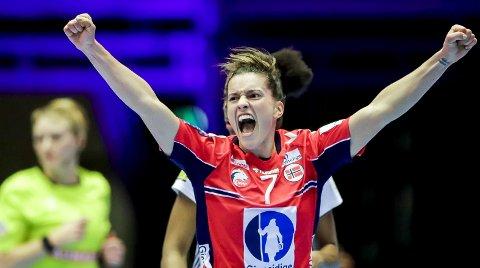 Stine Skogrand (28) har allerede tre mesterskapsgull med Norge, fra VM i 2015, EM i 2016 og EM 2020. – Det var på toppidrettslinjen jeg lærte å trene skikkelig, sier fyllingsdølen til BA.