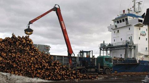 KONKURS: Svakt marked for tømmer i Europa førte til dårlig lønnsomhet for firma som drev med tømmerhåndtering.