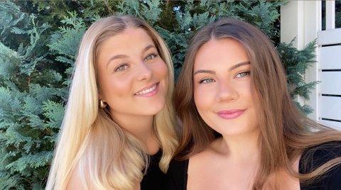 Sande-jentene Therese Johannesen, Zara Teie (th) er veldig glade for å kunne servere restaurantgjester igjen snart.