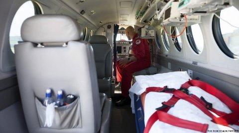 AMBULANSEFLY: Her frå ambulanseflya som blir brukt i dag. Dei nye flya frå Babcock er under produksjon.