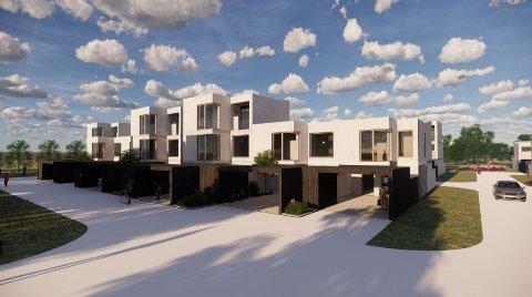 31 BOLIGER: Slik ser arkitektene for seg at de planlagte rekkehusene i Kokkerstuveien 2 kan se ut.