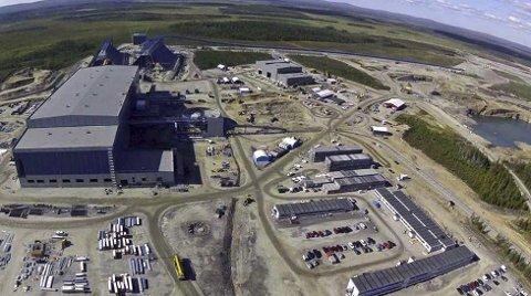 Til sommeren: I August skal det etter planen være full drift ved gruva og foredlingsverket i Kaunisvaara. Første skipning fra Narvik er ventet å skje i månedsskiftet september/oktober. Arkivfoto