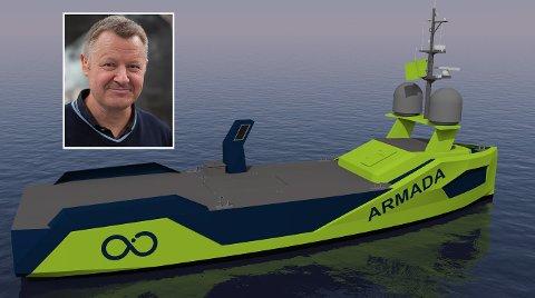 STOR ORDRE: Grovfjord Mek Verksted har inngått en stor kontrakt med Ocean Infinity Group Ltd om levering av i første omgang ni båter. Den første båten skal leveres i januar, og kontrakten betyr 200 millioner kroner i omsetning hvert år frem til 2023. Bedriften har nå en ordrereserve på over 700 millioner kroner, forteller administrerende direktør Bård Meek-Hansen.