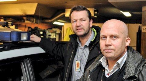 SAMMEN: Påtaleleder for Sør-Øst politidistrikt, Kjell Johan Abrahamsen (t.h.) og kriminlavadelingssjef i Horten, Jan Frode Johannessen har jobbet tett sammen i mange år.