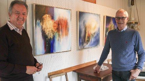 TILBAKE: Tor Olav Foss fra Ringsaker stiller ut i Galleri Asbjørn for fjerde gang. I hans bilder er det alltid et lys å strekke seg mot.