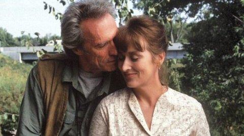 MODEN KJÆRLIGHET: Noen ganger skal man ta valget, andre ganger ikke. Clint Eastwood og Meryl Streep i «Broene i Madison County» våget ikke spranget. FOTO: FILMWEB