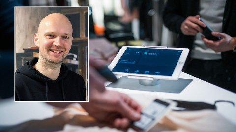 Haakon Skavhaug-Flender i Front Systems forteller om ekstrem nedgang i handelen etter korona-tiltakene. Foto: Front Systems