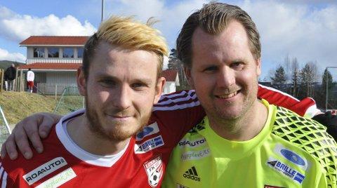 GOD KAMP: Aleksander Bakken Tveter og Sten Kolbrek ble matchvinnere mot Nordre Land.