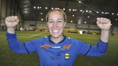STORSPILL: Lill Yvonne Sten Karlsrud har tatt LSK med storm og kun sluppet inn tre mål på ni kamper i serie og cup.