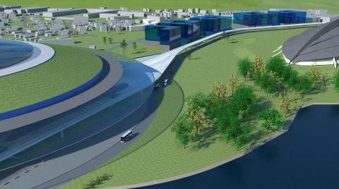 SYKEHUS: Her er Øystein Waags planer for et nytt sykehus i Hamar.