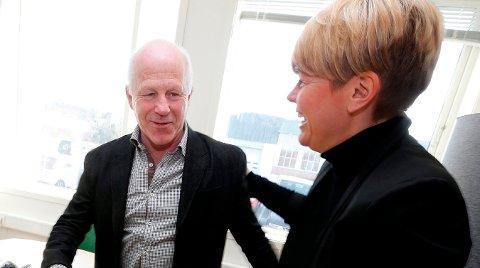 GLEDER SEG: Stortingsrepresentant Hege Liadal (Ap) og adm. dir i Haugesundsregionen Næringsforening. Arkivfoto: Alfred Aase