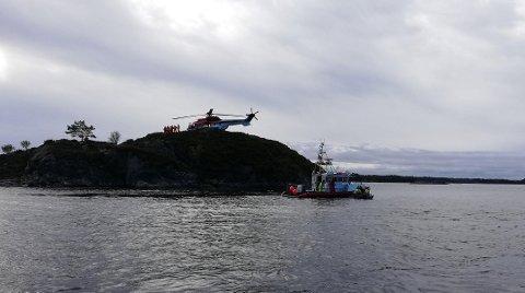 Det var en omfattende redningsaksjon etter den savnede dykkeren