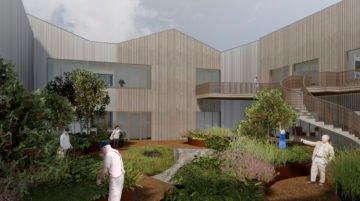 TOPP MODERNE: Slik kan det nye sykehjemmet i Skudeneshavn bli seende ut.