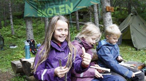 PÅ TUR: I fjor var Liljana med på friluftsskolen i Vefsn, og årets friluftsskole i Vefsn starter 30. juni.   Foto: Per Vikan