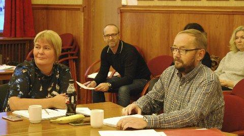 STEMTE IMOT: Renate K. Olsen og Lars Helge Jensen i Nordkapp Høyre stemte i mot rådmannens budsjettforslag i formannskapet tirsdag formiddag.