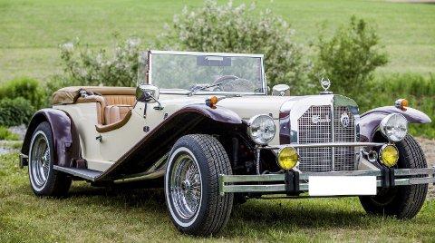 1929: Bilen er en kopi av en CMC Mercedes Benz SSK fra 1929. Også kjent som Gazelle.Alle foto: Mike Hillingseter