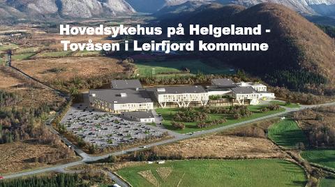 TOVÅSEN: Slik ser Leirfjord kommune for seg at et mulig hovedsykehus kan se ut i Tovåsen.