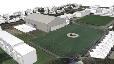 Bryne FK planla dobbelthall med fotballhall oppå. No brenn eit blått lys for planane. Kroppsøvingslærarar ved Bryne vgs reagerer.