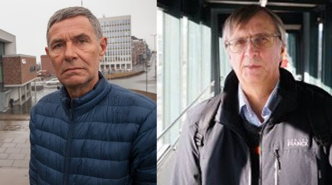 Styreleder Steinar Sørensen og styremedlem Steinar Sæterdal i Narvik Havn.