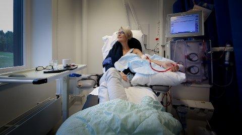 Gry Aarkvisla Henæs står på venteliste til nyretransplantasjon.  -transplantasjon -sykehus -Kalnes sykehus -behandling