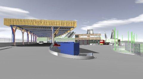 UNDER TAK: Stasjonen skal få moderne og miljøvennlige løsninger, opplyser Renovasjonsetaten.
