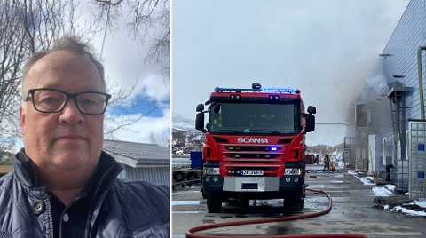 BRANN: Daglig leder Gorm Breimo forklarer at det var en av de ansatte som oppdaget brannen først.