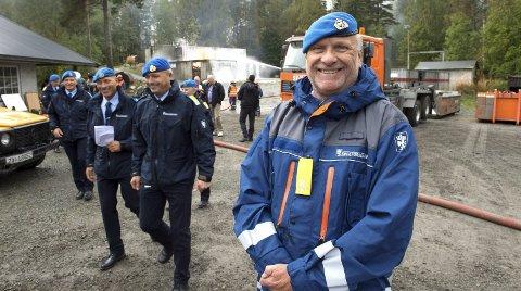 Nye krefter: Fungerende distriktssjef Roar Nilsen i Oppland sivilforsvarsdistrikt ser fram til å jobbe med den nye enheten. Foto: Brynjar Eidstuen