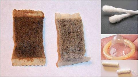 I RENSEANLEGGET: Snus, q-tips, kondomer og tamponger er bare noe av det som går igjennom renseanleggene fordi det blir dratt ned i do.