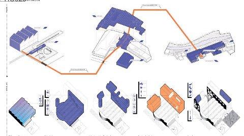 VINNEREN ER KLAR: En jury har kåret bidraget Sewn Heart til vinner av arkitektkonkurransen Europan 15, for Raufoss. En akse fra togstasjonen, gjennom Amfi til Bygning 5 står sentralt.
