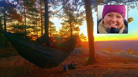 HENGEKØYE: Hilde Haugen fra Sandefjord blir aldri lei solopppganger.