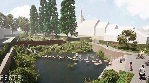 PROSJEKT: Kommunalteknikk utreder å anlegge park på tomta.