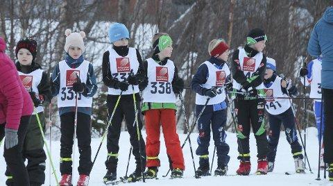 REKRUTTERING: Romjulsrennet samlet over 100 deltakere, og mange under 10 år. – God rekruttering er viktig, sier rennleder Martin Vatshaug i Drevja IL. Foto: Per Vikan