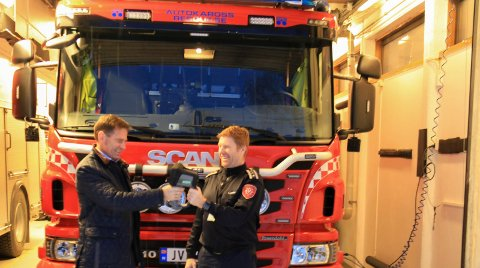 Forebyggende: Adm. dir. Jakob Ruud i Gjensidige Hadeland brannkasse og Tonny Jensen, brann- og beredskapssjef i Jevnaker kommune er  begge opptatt av brannforebyggende arbeid